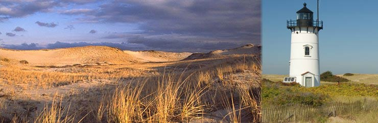 Cape Cod Dunes and Lighthouse